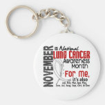 Lung Cancer Awareness Month Every Month For ME Keychains