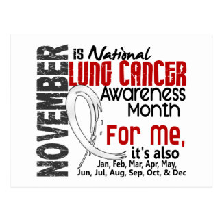 Lung Cancer Awareness Month Every Month For ME Postcard