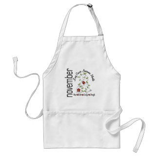 Lung Cancer Awareness Month Flower Ribbon 1 Aprons