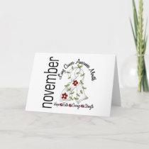 Lung Cancer Awareness Month Flower Ribbon 1 Card