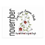 Lung Cancer Awareness Month Flower Ribbon 1 Post Card