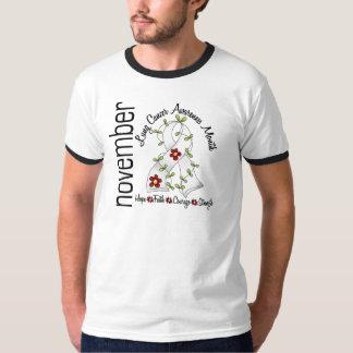 Lung Cancer Awareness Month Flower Ribbon 1 T-Shirt
