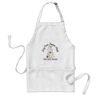 Lung Cancer Awareness Month Flower Ribbon 2 Apron