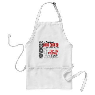 Lung Cancer Awareness Month For My Family Aprons