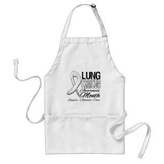 Lung Cancer Awareness Month Grunge Ribbon Apron