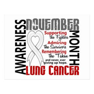 Lung Cancer Awareness Month Heart 1.5 Postcard