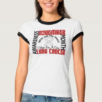 Lung Cancer Awareness Month Heart 1 T-Shirt