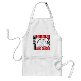 Lung Cancer Awareness Month Heart 2 Aprons