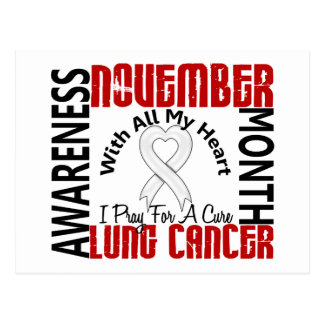 Lung Cancer Awareness Month Heart 2 Postcard