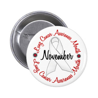 Lung Cancer Awareness Month Pearl Ribbon 1.3 Pinback Button