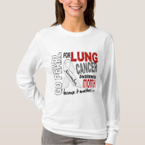 Lung Cancer Awareness Month Pearl Ribbon 1.4 T-Shirt