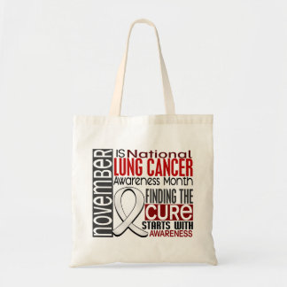 Lung Cancer Awareness Month Pearl Ribbon I2.5 Budget Tote Bag