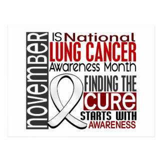 Lung Cancer Awareness Month Pearl Ribbon I2.5 Postcard