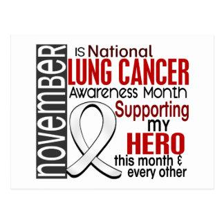 Lung Cancer Awareness Month Ribbon I2.1 Postcard
