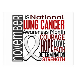 Lung Cancer Awareness Month Ribbon I2.3 Postcard