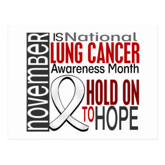 Lung Cancer Awareness Month Ribbon I2.4 Postcard