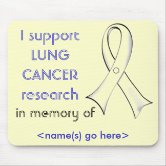 Lung Cancer Awareness Personalizable Mousepad