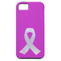 Lung Cancer Awareness Ribbon iPhone SE/5/5s Case