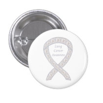Lung Cancer Awareness Ribbon Custom Pin Buttons