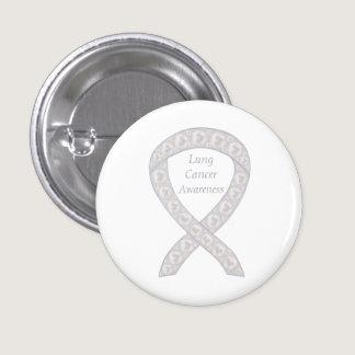 Lung Cancer Awareness Ribbon Custom Pin Buttons