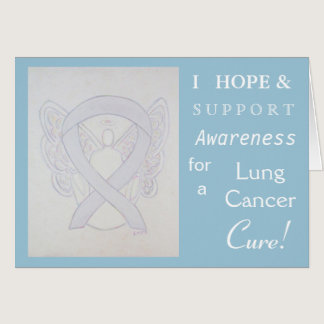 Lung Cancer Awareness Ribbon Greeting Card