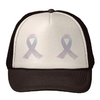 Lung Cancer Awareness Ribbon Trucker Hat