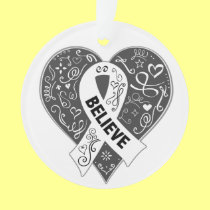 Lung Cancer Believe Ribbon Heart