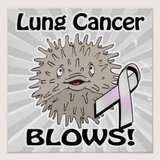 Lung Cancer Blows Awareness Design Poster