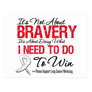 Lung Cancer Bravery Postcard