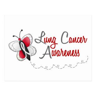 Lung Cancer Butterfly 2 Awareness Postcard
