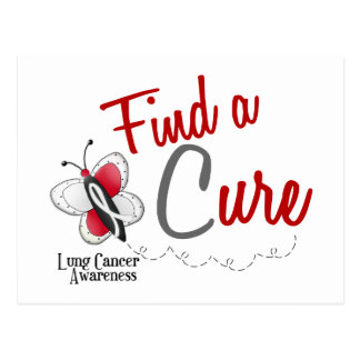 Lung Cancer Butterfly 2 Find A Cure Postcard