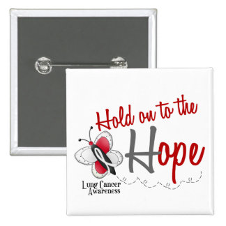 Lung Cancer Butterfly 2 Hold On To The Hope Button