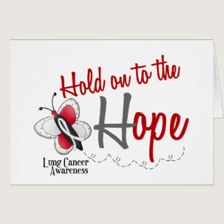 Lung Cancer Butterfly 2 Hold On To The Hope Card