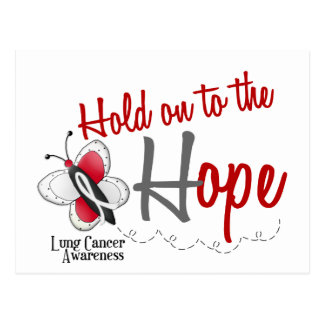 Lung Cancer Butterfly 2 Hold On To The Hope Postcard