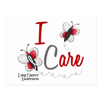 Lung Cancer Butterfly 2 I Care Postcard