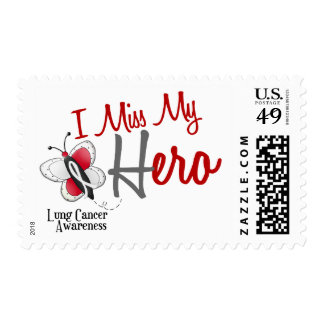 Lung Cancer Butterfly 2 I Miss My Hero Stamp