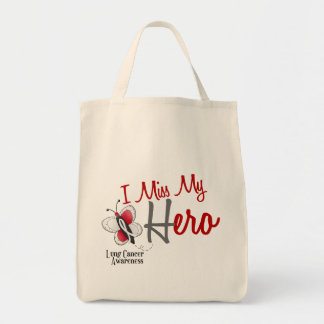 Lung Cancer Butterfly 2 I Miss My Hero Tote Bag