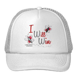 Lung Cancer Butterfly 2 I Will Win Trucker Hat