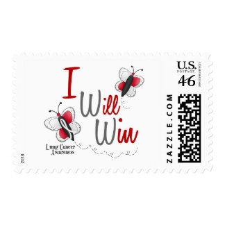 Lung Cancer Butterfly 2 I Will Win Postage Stamps