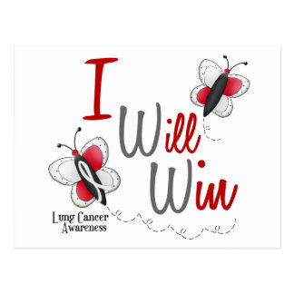 Lung Cancer Butterfly 2 I Will Win Postcard