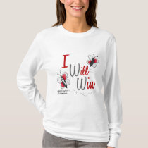 Lung Cancer Butterfly 2 I Will Win T-Shirt