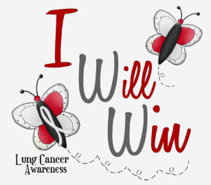 1b9dc7dd46508 Lung Cancer Butterfly 2 I Will Win T-Shirt