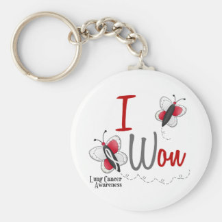 Lung Cancer Butterfly 2 I Won Keychain