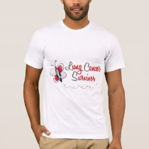 Lung Cancer Butterfly 2 Survivor T-Shirt