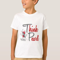 Lung Cancer Butterfly 2 Think Pearl T-Shirt
