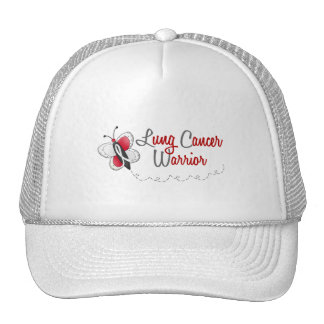 Lung Cancer Butterfly 2 Warrior Trucker Hat