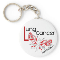 Lung Cancer BUTTERFLY 3.1 Keychain
