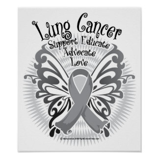 Lung Cancer Butterfly 3 Poster