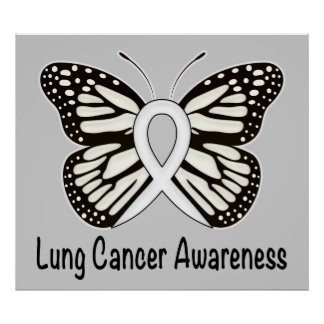 Lung Cancer Ribbon Posters Zazzle