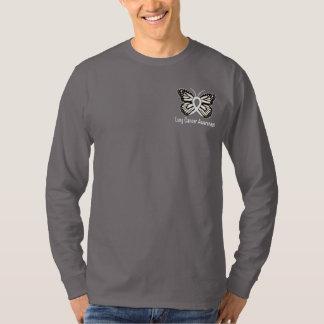 Lung Cancer Butterfly Awareness Ribbon T-Shirt